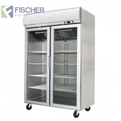 Double Glass Door Fridge 900L - YCC02-LB