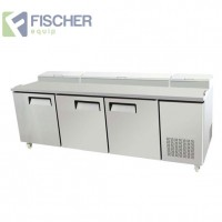 Fischer Three Door Pizza Prep Fridge - PPF03-SS