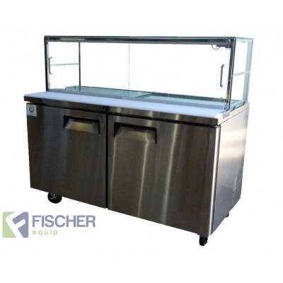 Fischer Two Door Sandwich Fridge - USS02-GL v2