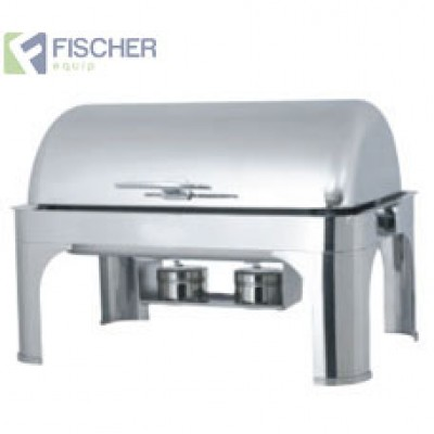 Fischer Luxury Stainless Steel Bain Marie Roll-Top Chafer