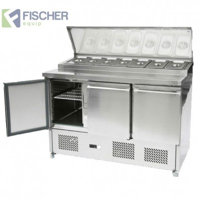 Fischer 3 Door Saladette Prep Fridge - ES03-69