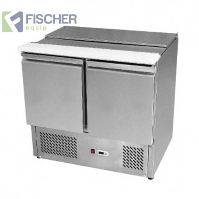 Fischer 2 Door Saladette Prep Fridge - ES02-00