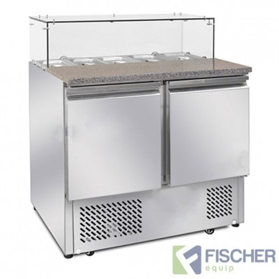 Fischer 2 Door Saladette Prep Fridge - ES02-64