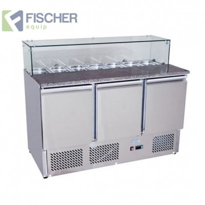 Fischer 3 Door Saladette Prep Fridge - ES03-64