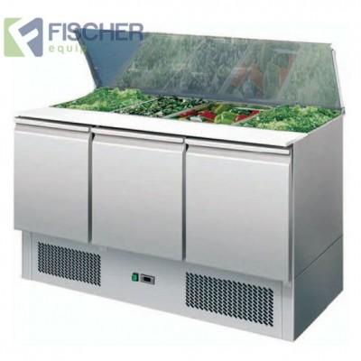 Fischer 3 Door Saladette Prep Fridge - ES03-00