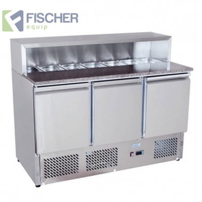 Fischer 3 Door Saladette Prep Fridge - ES03-58