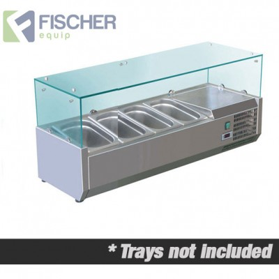 Fischer Cold Bain Marie, 4 x 1/3 GN Trays Not Included VRX-1200