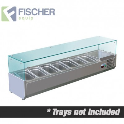 Fischer Cold Bain Marie, 7 x 1/3 GN Trays Not Included VRX-1600