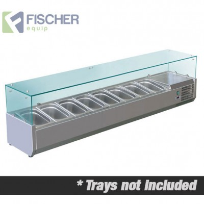 Fischer Cold Bain Marie, 8 x 1/3 GN Trays Not Included VRX-1800