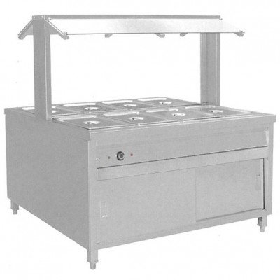 8 Tray Hot Bain Marie Centre Servery