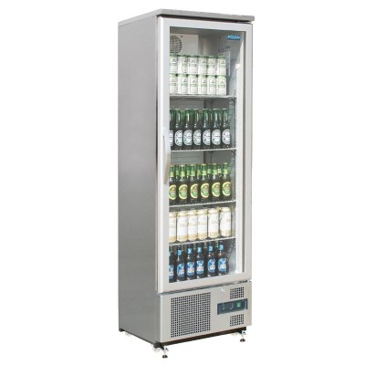 Polar Single Hinged Door Upright Back Bar Cooler