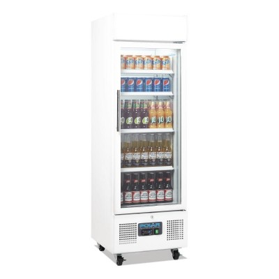 Polar Upright Display Cabinet 218L White