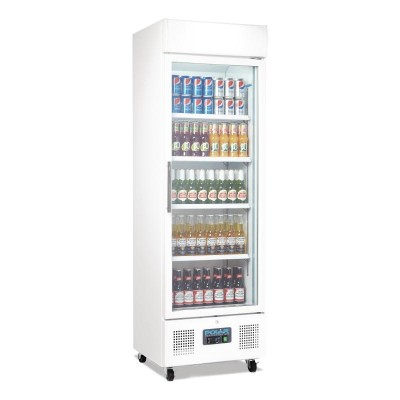 Polar Upright Display Fridge 368L White