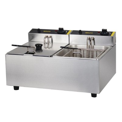Apuro Double Basket Deep Fryer - 10L